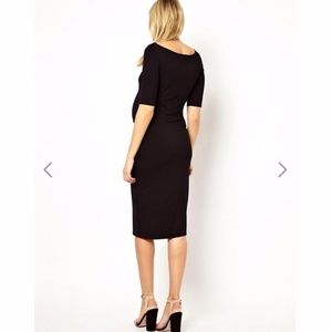 ASOS Maternity Dresses - ASOS Maternity Bardot Dress With Half Sleeve Black